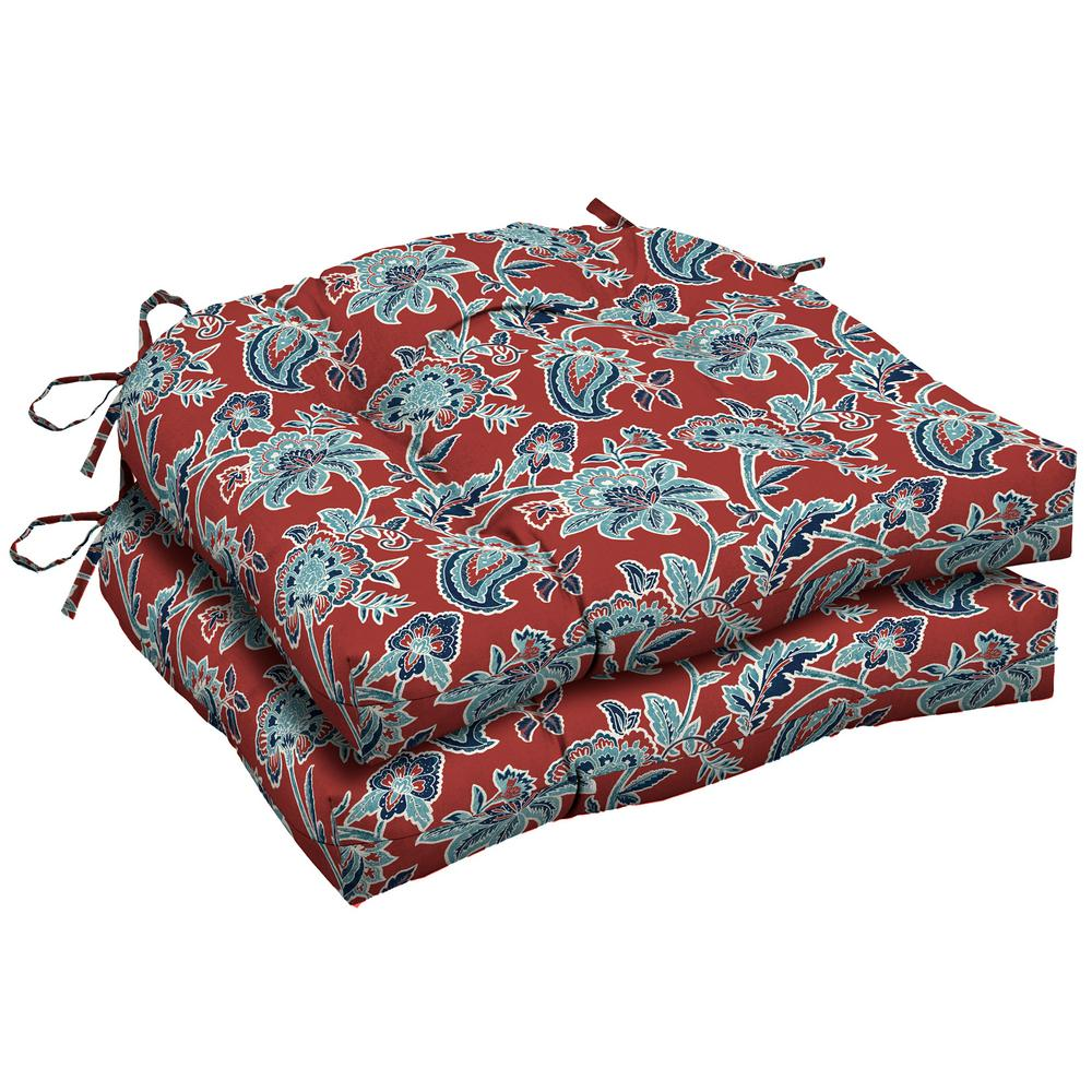 Caspian Tufted Square Outdoor Seat Cushion (2-Pack)
