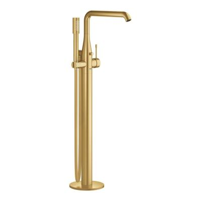 Essence Single-Handle Floor Standing Roman Tub Faucet with Hand Shower in Brushed Cool Sunrise