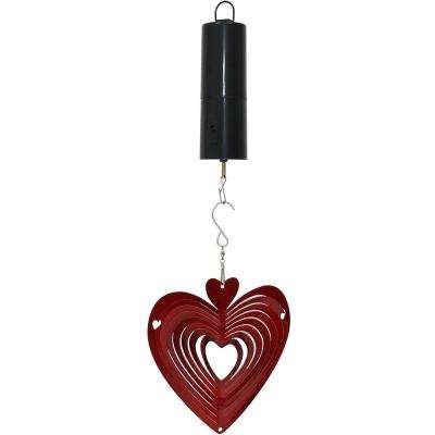 Heart 6 in. Whirligig Wind Spinner with Battery-Operated Motor