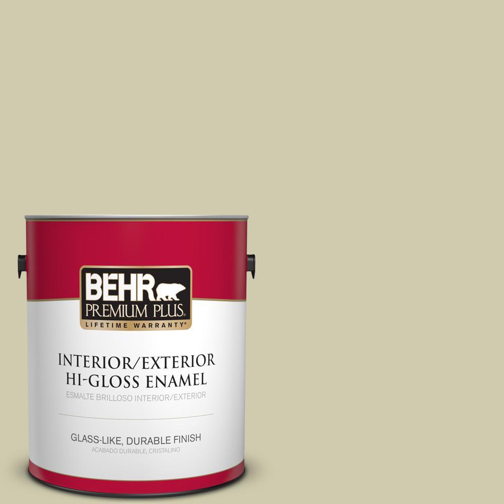 1 gal. #PPU9-18 Cilantro Cream Hi-Gloss Enamel Interior/Exterior Paint