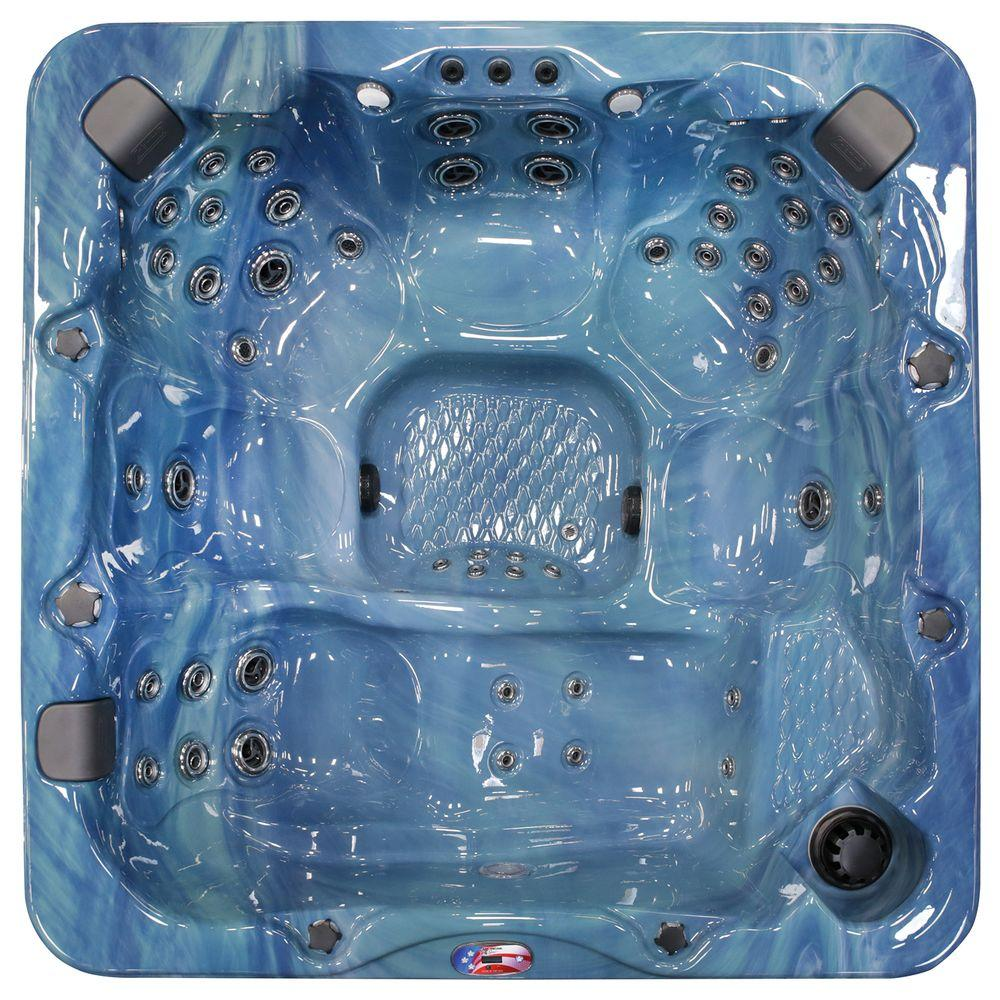 American Spas 7-Person 56-Jet Premium Acrylic Lounger Spa Hot Tub ...