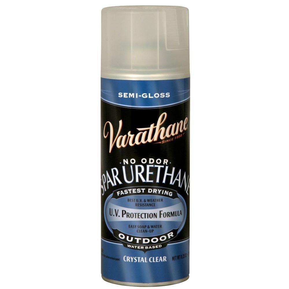 Varathane 11.25 oz. Clear Semi-Gloss Spar Urethane Spray ...