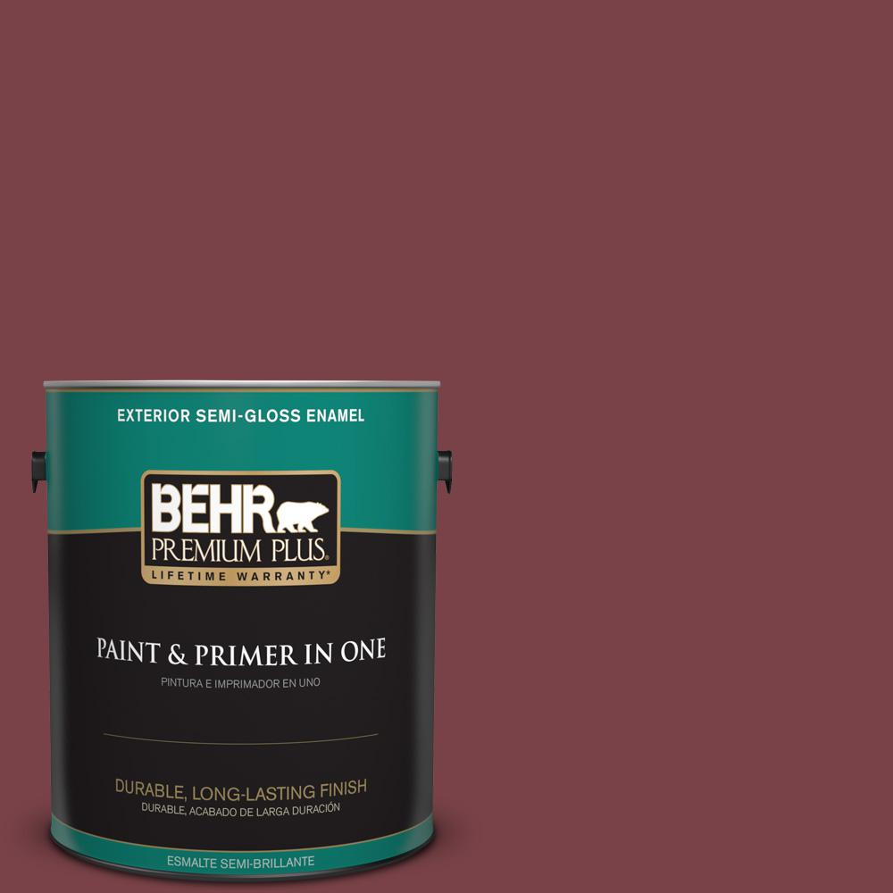 1 gal. #PPU1-13 Spiced Wine Semi-Gloss Enamel Exterior Paint