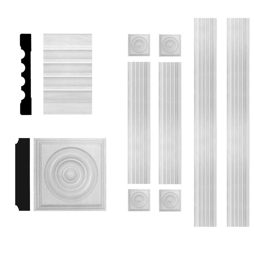 3/4 in. x 5-1/4 in. x 6 ft. MDF Fluted Window Casing Set
