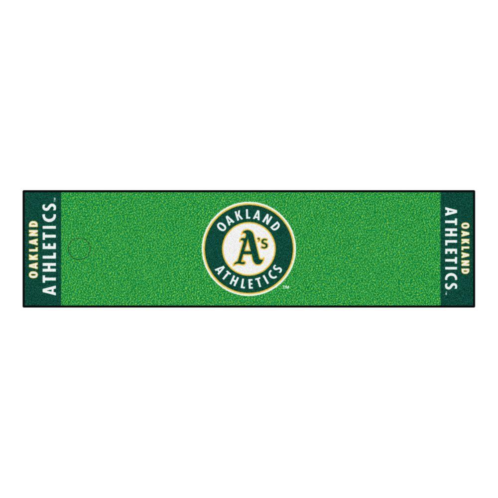 Fanmats Mlb Oakland Athletics 1 Ft 6 In X 6 Ft Indoor 1