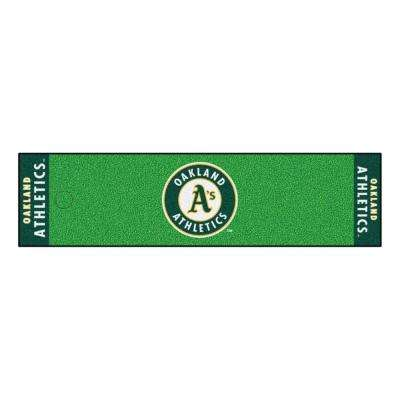 MLB Oakland Athletics 1 ft. 6 in. x 6 ft. Indoor 1-Hole Golf Practice Putting Green