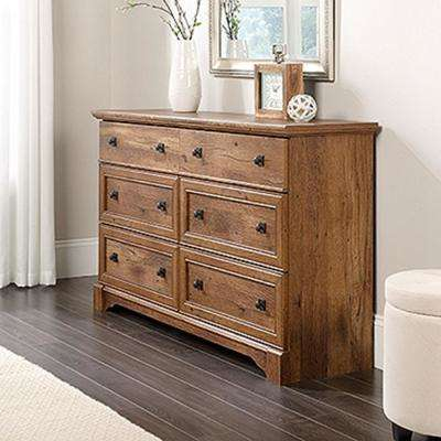 Palladia 6-Drawer Vintage Oak Dresser