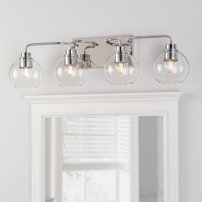 Lawrence 4 Light Polished Chrome Vanity Light