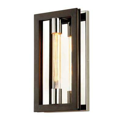 Enigma 1-Light Bronze 14 in. H Wall Sconce