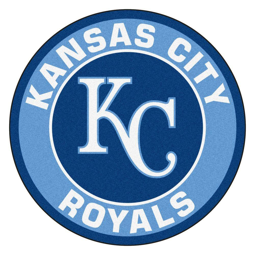 Fanmats Mlb Kansas City Royals Blue 2 Ft X 2 Ft Round