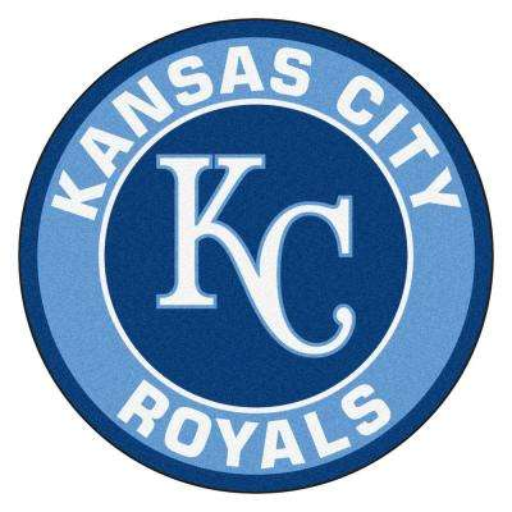 MLB Kansas City Royals Blue 2 ft. x 2 ft. Round Area Rug