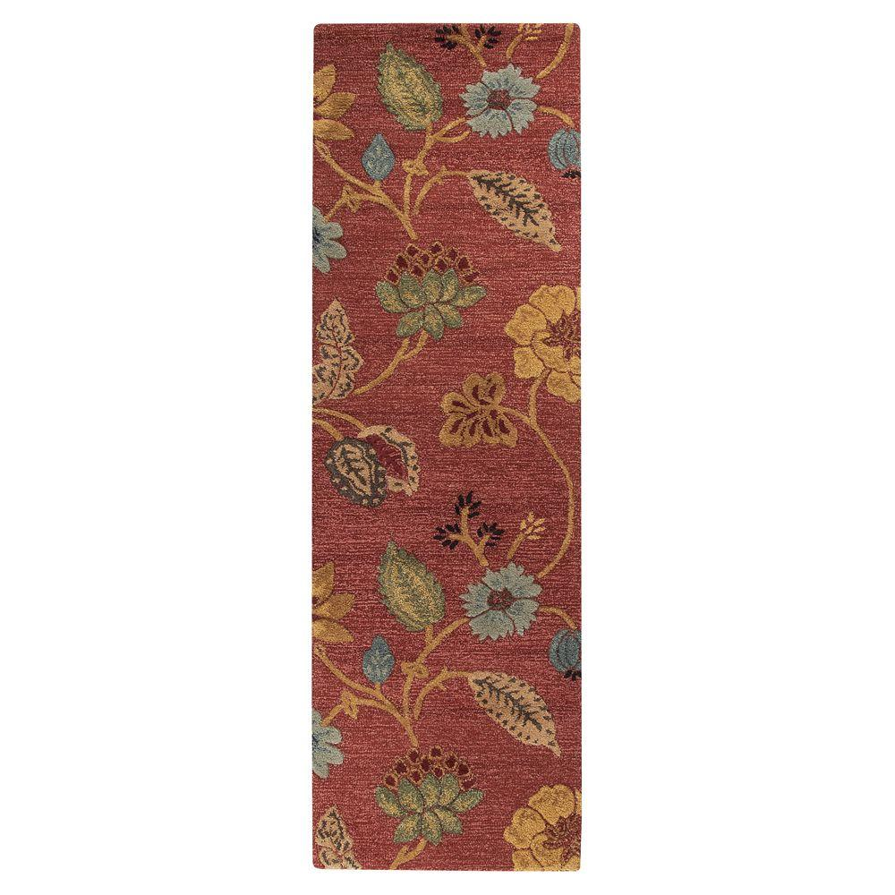 Home Decorators Collection Portico Red 2 Ft 6 In X 8 Ft Runner 0167640110 The Home Depot