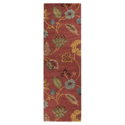 Home Decorators Collection Portico Red 3 ft. x 14 ft. Runner Rug