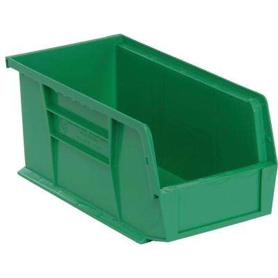 Ultra Series Stack and Hang 3.5 Gal. Storage Bin in Green (12-Pack)