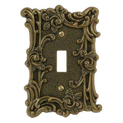 Provincial 1 Toggle Wall Plate - Antique Brass