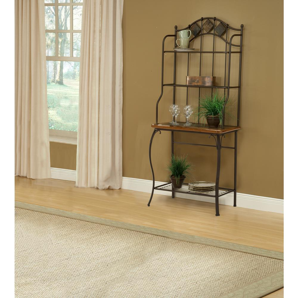 Hillsdale Lakeview Brown Baker's Rack