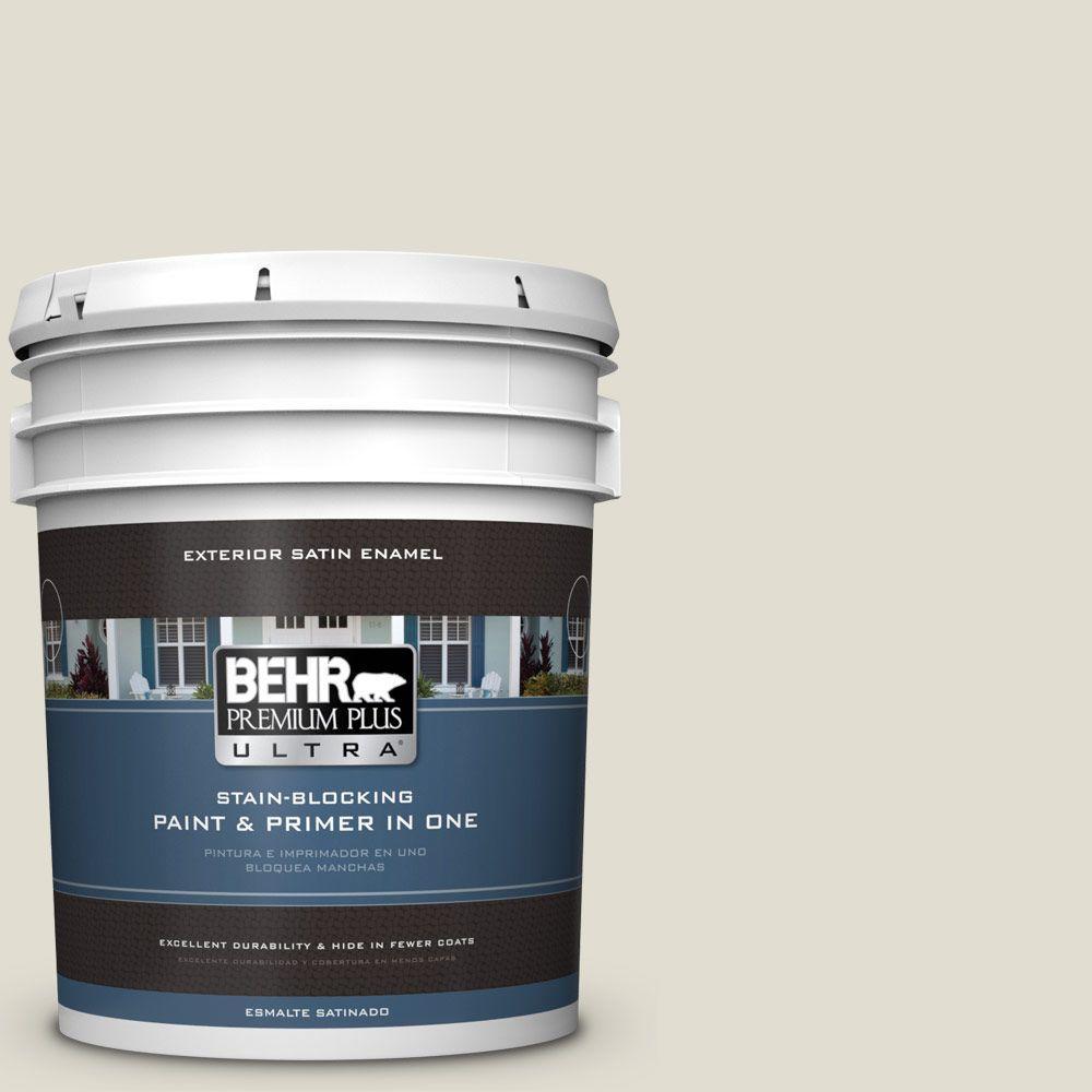 5-gal. #N340-1 Light Granite Satin Enamel Exterior Paint