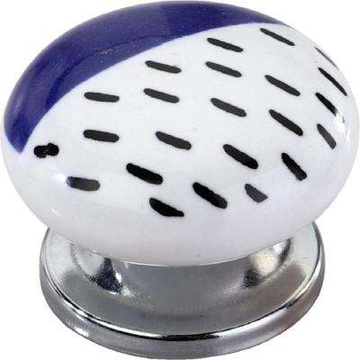 Sugar Maple 1-1/2 in. Blue Cabinet Knob