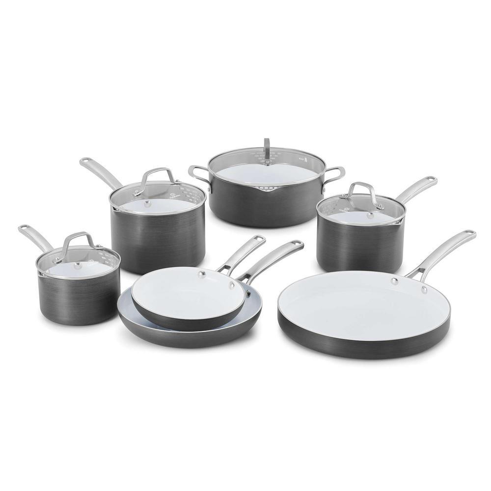 Classic 11-Piece Ceramic Non-Stick Cookware Set with Lids