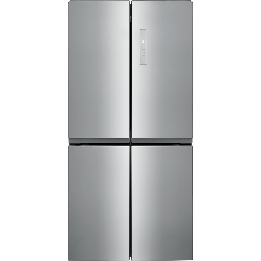 17.4 cu. ft. 4 Door French Door Refrigerator in Brushed Steel with Adjustable Freezer Storage