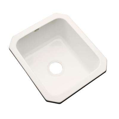 Crisfield Undermount Acrylic 17 in. Single Bowl Entertainment Sink in Biscuit