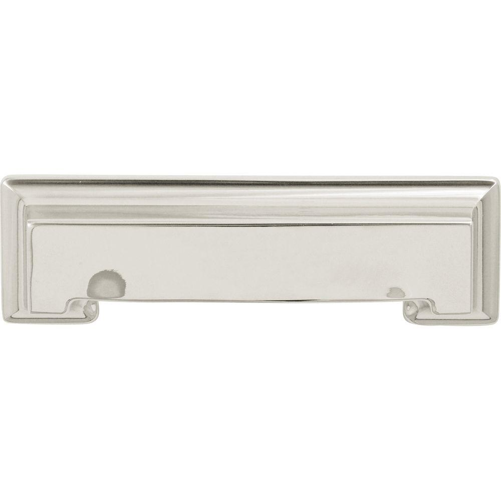 Hickory Hardware Studio 3 In. Bright Nickel Cup Pull P3013 14   The Home  Depot