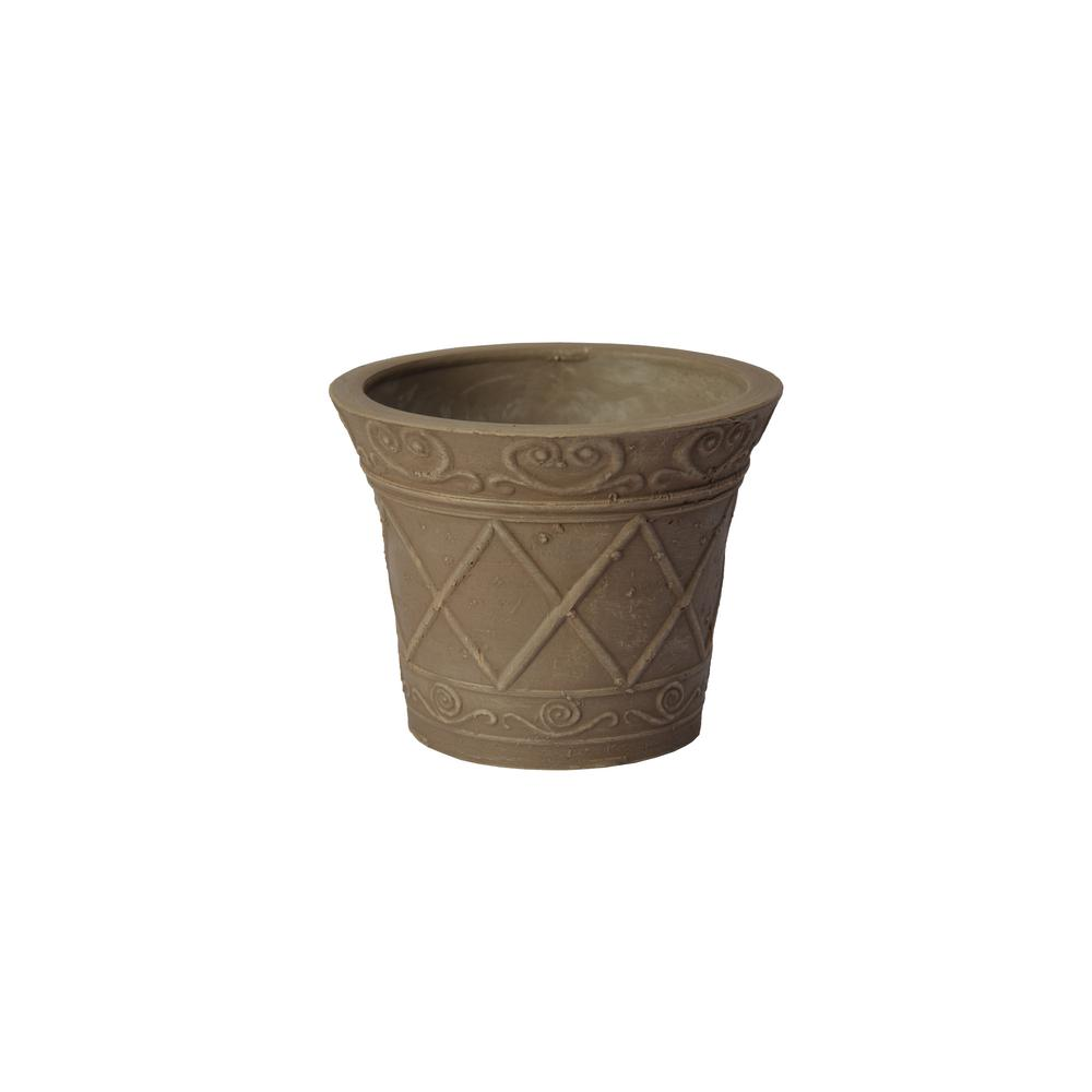 Arcadia Garden Products Scroll Grower 5 In. X 4 In. Taupe PSW Pot NUR12TP    The Home Depot