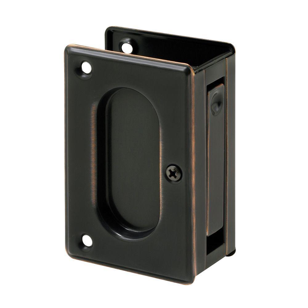 3-3/4 in. Classic Bronze Pocket Door Passage Pull