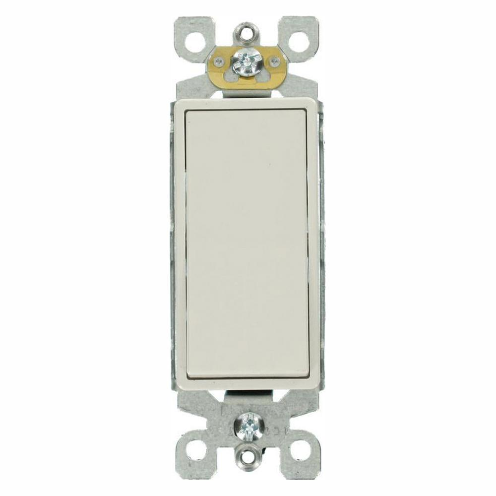 Leviton Decora 15 Amp 3-Way Switch, White (5-Pack)