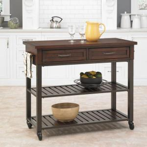 Click here to buy Cabin Creek Chestnut Kitchen Cart With Storage by Cabin Creek.
