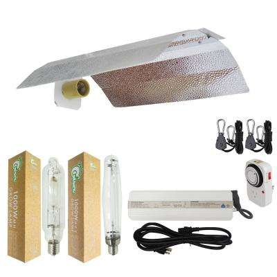 1000-Watt HPS/MH Grow Light System with 19 in. Basic Wing Reflector