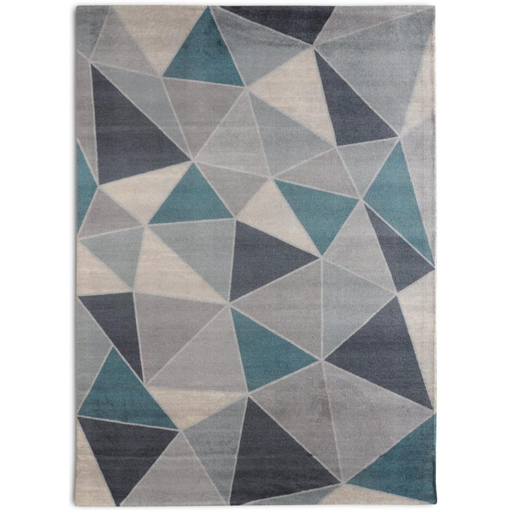 Shop Rugsmith Teal Confetti Mid Century Modern Geometric: Rugsmith Confetti Mid-Century Modern Geometric Teal 7 Ft