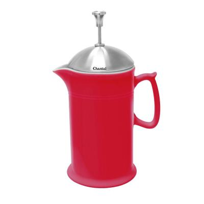 28 oz. Ceramic French Press in Red