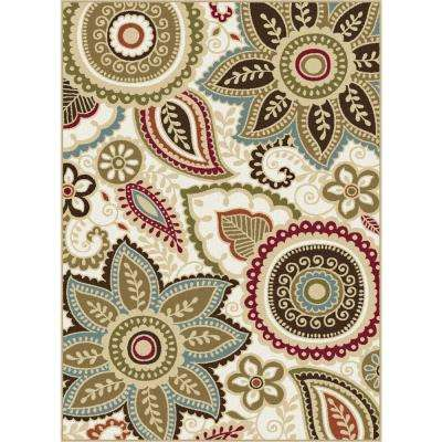 Majesty Cream 9 ft. 3 in. x 12 ft. 6 in. Area Rug