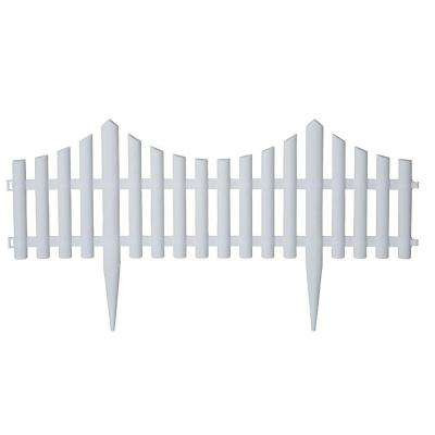 24 in. Resin Picket Garden Fence (18-Pack)