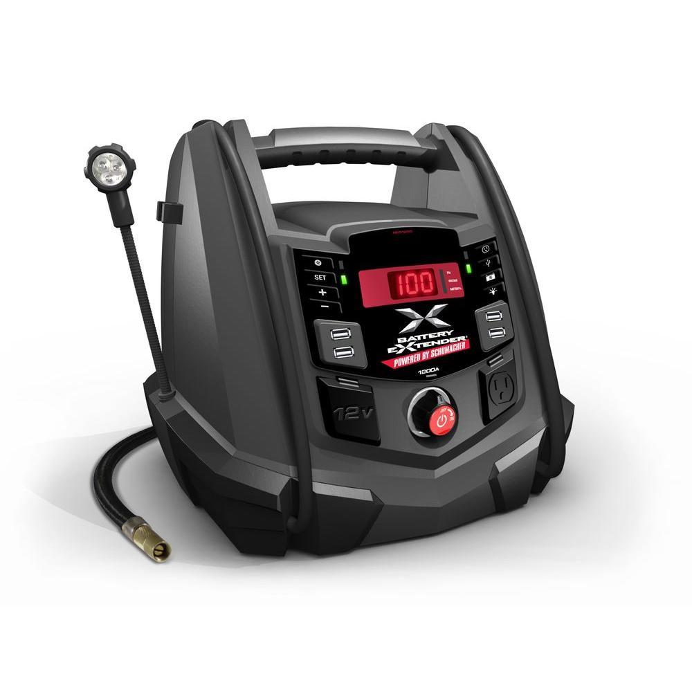 Schumacher Battery Extender 12-Volt, 1,200 Amp Battery Jump Starter