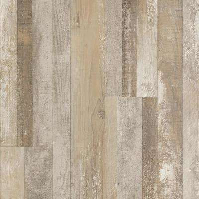 Outlast+ Dockside Grey Oak Laminate Flooring- 5 in. x 7 in. Take Home Sample