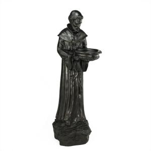 Northlight 24 inch St. Francis of Assisi Dark Brown Bird Feeder by Northlight