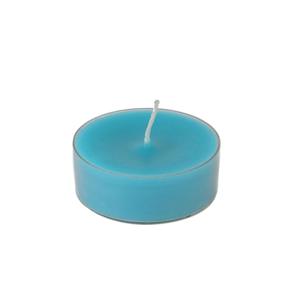 2.25 in. Turquoise Mega Oversized Tealights (12-Box)