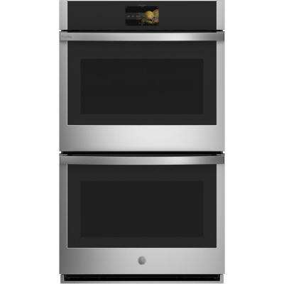 Profile 30 in. Smart Double Electric Wall Oven with Convection Self Cleaning in Stainless Steel