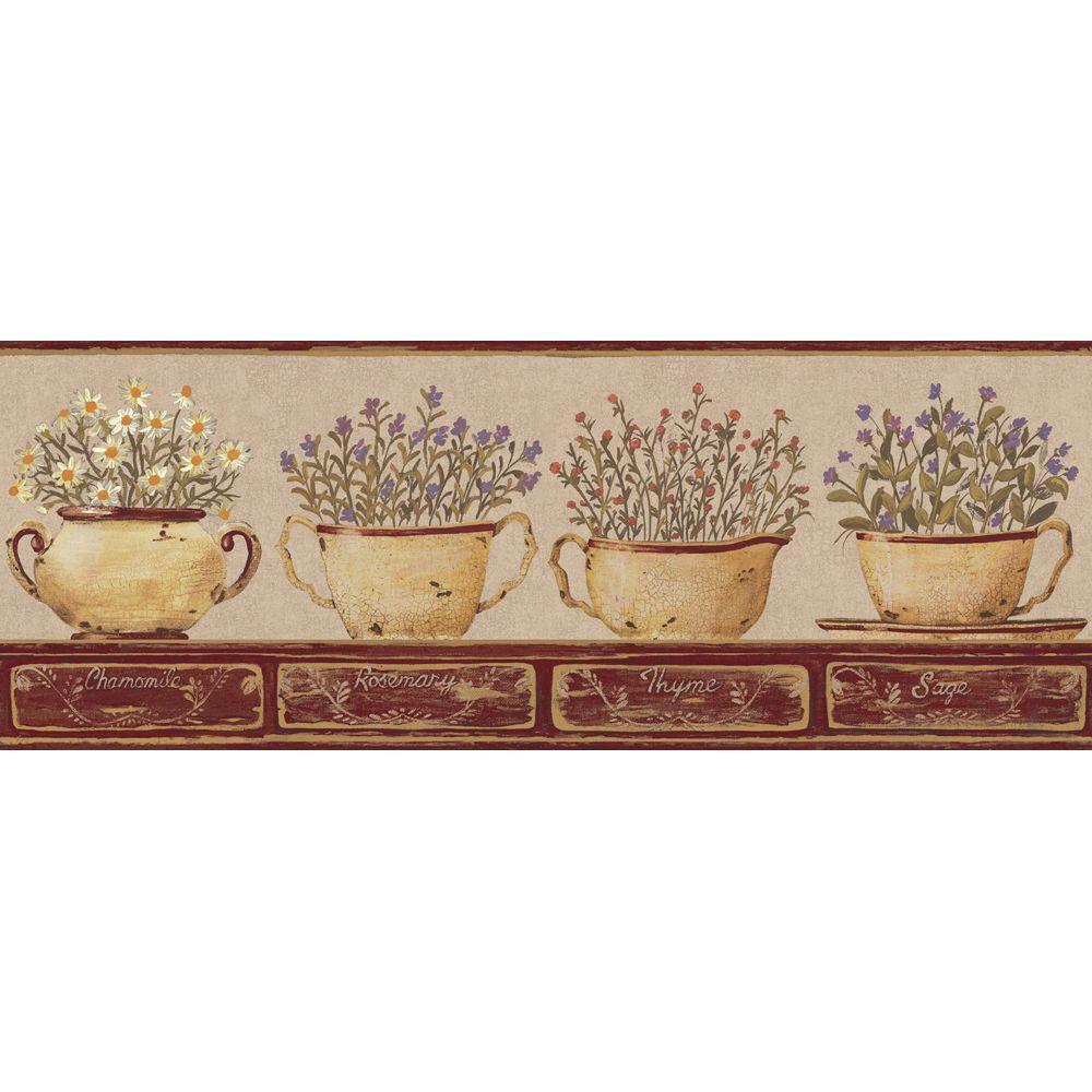 York Wallcoverings Herb Wallpaper Border