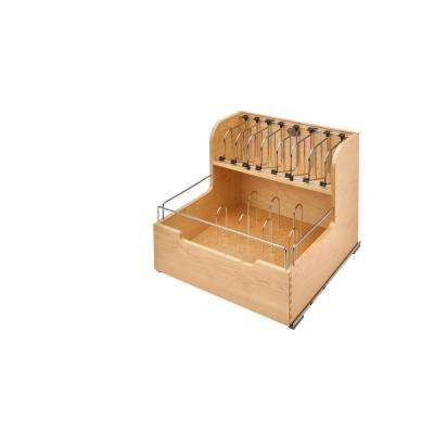 18.88 in. H x 20.5 in. W x 21.56 in. D Wood Food Storage Container Organizer for Base 21 Cabinets