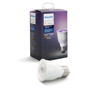 White and Color Ambiance PAR16 LED 50W Equivalent Dimmable Smart Wireless Decorative Candle Light Bulb