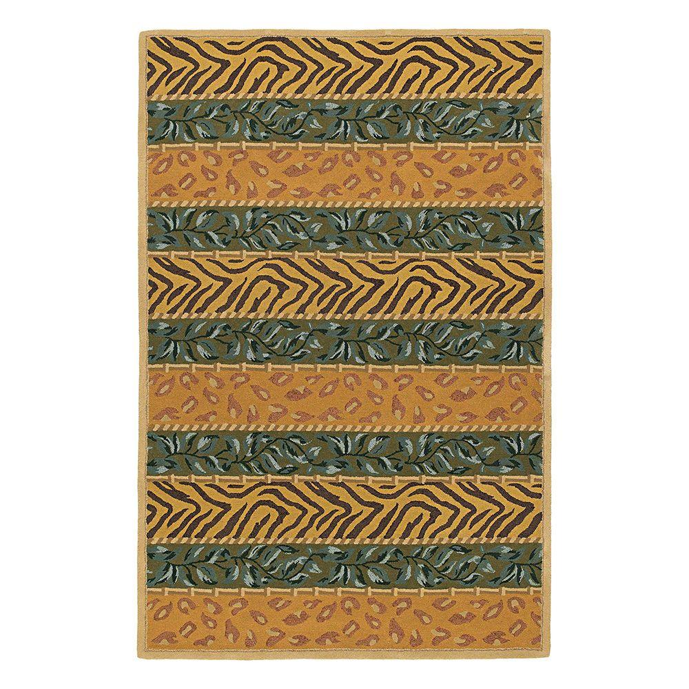 Kaleen Indra Sharab Olive 7 ft. 6 in. x 9 ft. Area Rug-DISCONTINUED