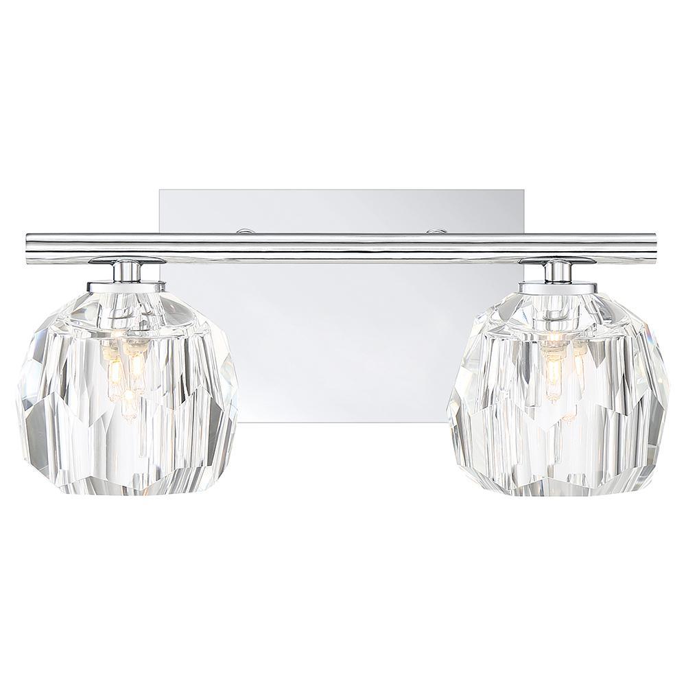 Regalia 2-Light Polished Chrome Vanity Light