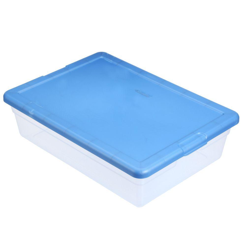 Sterilite 28 Qt. Latch Box  sc 1 st  Home Depot & Sterilite 28 Qt. Latch Box-16551010 - The Home Depot