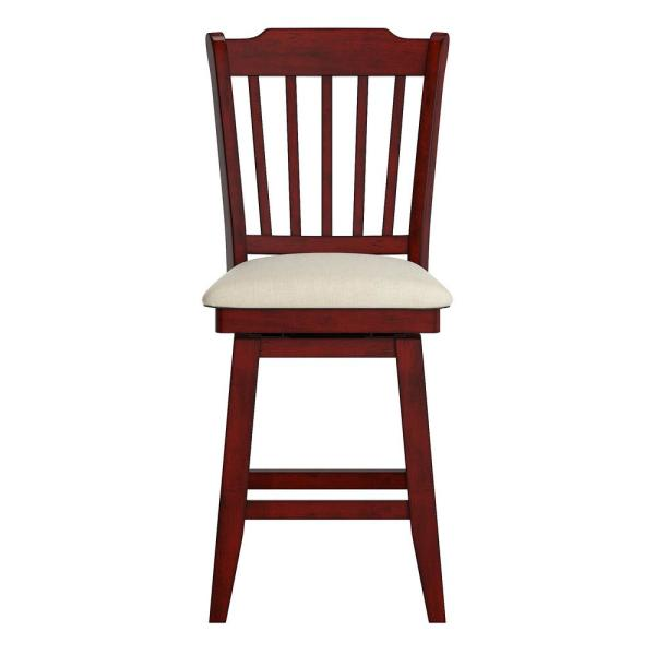 HomeSullivan 24 in. H Antique Berry Spindle Back Swivel Chair with