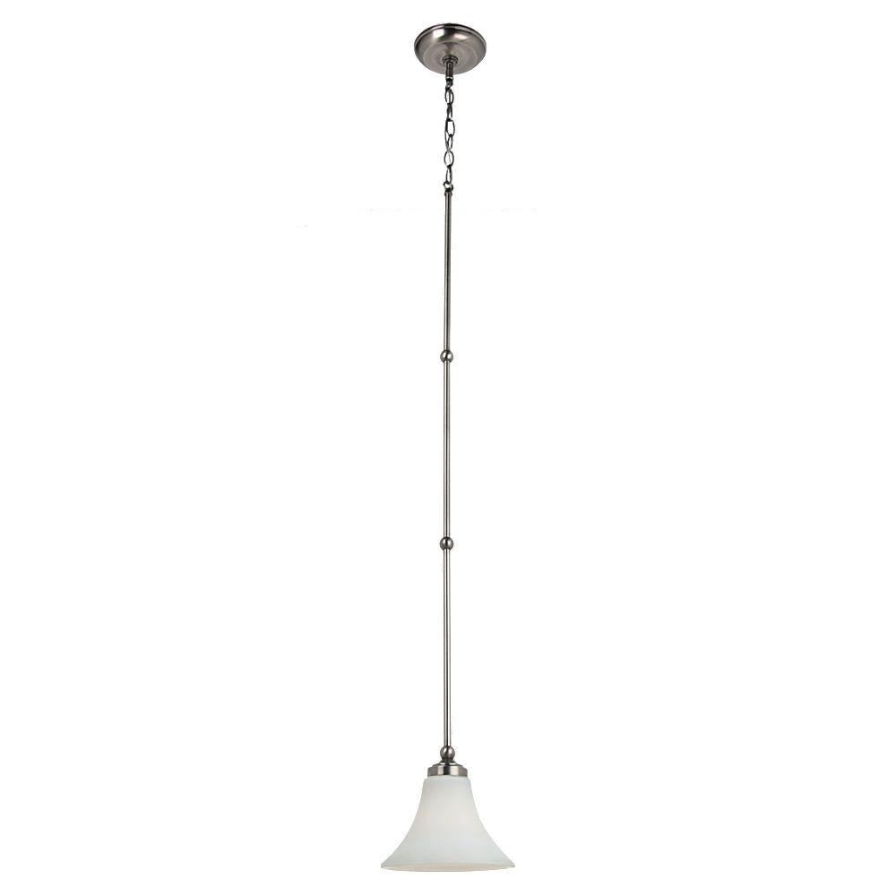 Sea Gull Lighting Montreal 1 Light Antique Brushed Nickel Mini Pendant
