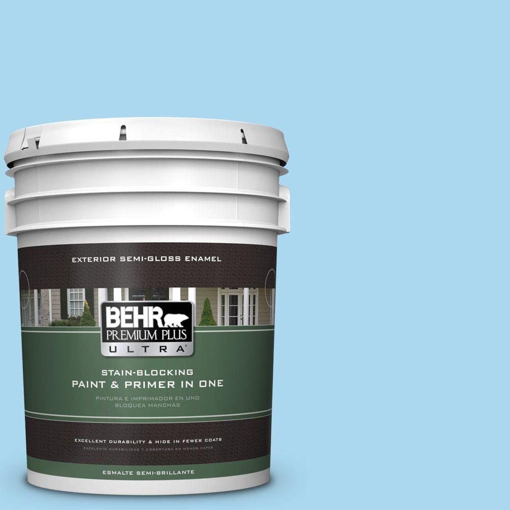 5-gal. #540A-3 Blue Feather Semi-Gloss Enamel Exterior Paint