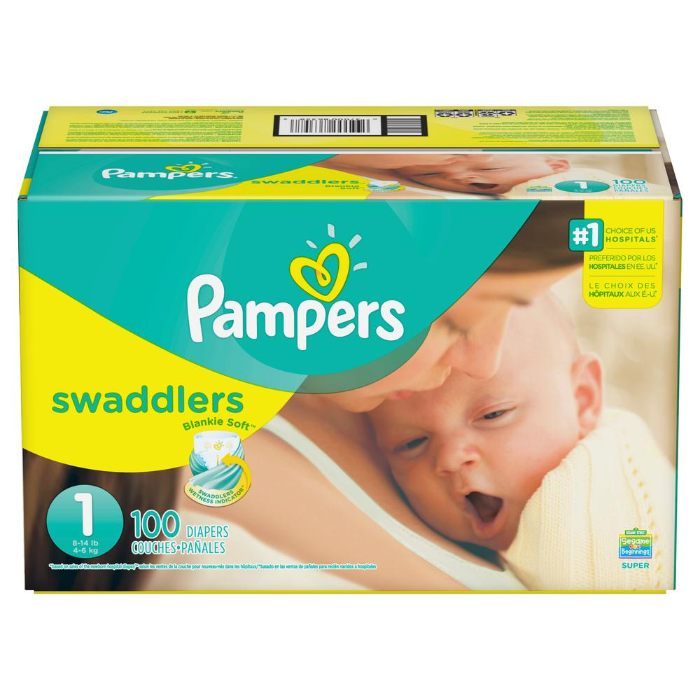 Pampers Swaddlers Size 1 Diapers (100-Count) 3a4b0ffa3